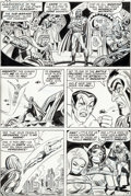 Original Comic Art:Panel Pages, John Romita Sr. and John Verpoorten Fantastic Four #104Story Page 4 Namor Original Art (Marvel, 1970)....