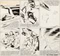 Original Comic Art:Comic Strip Art, Austin Briggs Flash Gordon Sunday Comic Strip Original Art dated 3-17-46 (King Features Syndicate, 1946)....