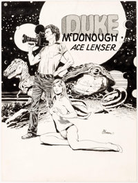 Al Williamson Duke McDonough - Ace Lenser Illustration Original Art (c. 1980)