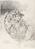 Original Comic Art:Miscellaneous, Esteban Maroto - Demonic Horde Preliminary Original Art(undated)....