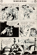 Original Comic Art:Panel Pages, Joe Kubert The Brave and the Bold #15 Story Page 6 OriginalArt (DC, 1957)....