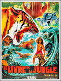 "Movie Posters:Adventure, Jungle Book (Exploit Films, R-1990s). French Grande (46"" X 62"").Adventure.. ..."