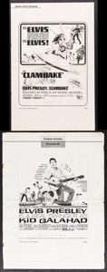 """Movie Posters:Elvis Presley, Clambake & Other Lot (United Artists, 1967). Folded, Overall:Fine+. Uncut Pressbooks (2) (Multiple Pages, 11"""" X 17"""" &13.25... (Total: 2 Items)"""