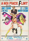 "Movie Posters:Action, In Like Flint (Dear Film, 1967). Italian 2 - Fogli (39"" X 55"").Action.. ..."