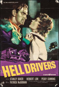 """Movie Posters:Crime, Hell Drivers (Rank, 1958). British One Sheet (27"""" X 40""""). Crime....."""