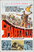 """Movie Posters:Action, Spartacus & Other Lot (Universal International, 1961). OneSheets (2) (27"""" X 41"""") Academy Award Style. Action.. ... (Total: 2Items)"""
