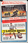 "Movie Posters:War, To Hell and Back/Lawless Breed Combo and Other Lot (UniversalInternational, R-1960). One Sheets (2) (27"" X 41""). War.. ...(Total: 2 Items)"