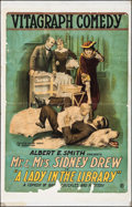 """Movie Posters:Drama, A Lady in the Library (Vitagraph, 1917). One Sheet (28"""" X 44"""").Drama.. ..."""