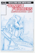 Original Comic Art:Sketches, Mark Texeira Transformers: Regeneration One #100 Sketch Cover Variant Optimus Prime Original Art (IDW, 2014)....