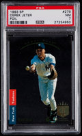 Baseball Cards:Singles (1970-Now), 1993 SP Foil Derek Jeter #279 PSA NM 7....