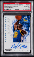Basketball Cards:Singles (1980-Now), 2012 Panini Contenders Draymond Green #233 Rookie Autograph PSA Gem Mint 10 - 2017 Defensive Player of the Year....