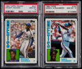 Baseball Cards:Lots, 1984 Dwight Gooden & Darryl Strawberry PSA Gem Mint 10 Rookie Pair (2). ...