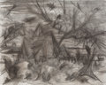 Fine Art - Painting, American:Contemporary   (1950 to present)  , Peter Blume (American, 1906-2006). Winter (study), 1964.Charcoal and mixed media on canvas. 48 x 60 inches (121.9 x 152...