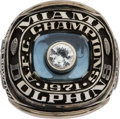 Football Collectibles:Others, 1971 Bob Griese Miami Dolphins American Football Conference Championship Salesman's Sample Ring. ...