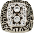 Football Collectibles:Others, 1977 Roger Staubach Dallas Cowboys Super Bowl XII Championship Salesman's Sample Ring. ...