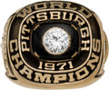 Baseball Collectibles:Others, 1971 Roberto Clemente Pittsburgh Pirates World Series ChampionshipSalesman's Sample Ring. ...