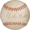 Baseball Collectibles:Balls, Circa 1927 Babe Ruth Single Signed Baseball....
