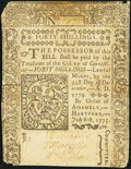 Colonial Notes:Connecticut, Connecticut July 1, 1775 40s Fine.. ...