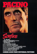 "Movie Posters:Crime, Scarface (Universal, 1983). One Sheet (27"" X 39.5"") Advance.Crime.. ..."