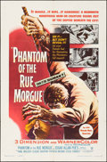 "Movie Posters:Horror, Phantom of the Rue Morgue (Warner Brothers, 1954). One Sheet (27"" X41"") 3-D Style. Horror.. ..."