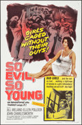 "Movie Posters:Exploitation, So Evil, So Young & Other Lot (United Artists, 1961). OneSheets (2) (27"" X 41""). Exploitation.. ... (Total: 2 Items)"