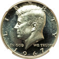 SMS Kennedy Half Dollars, 1967 50C SMS 67 Ultra Cameo NGC. NGC Census: (185/21). PCGSPopulation: (94/17). ...