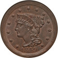 1849 1C MS64 Brown NGC. NGC Census: (23/14). PCGS Population: (32/13). CDN: $1,000 Whsle. Bid for problem-free NGC/PCGS...