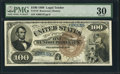 Large Size:Legal Tender Notes, Fr. 178 $100 1880 Legal Tender PMG Very Fine 30.. ...