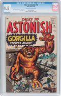 Silver Age (1956-1969):Horror, Tales to Astonish #18 (Atlas, 1961) CGC VG+ 4.5 Off-white to whitepages....
