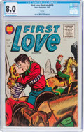 Golden Age (1938-1955):Romance, First Love Illustrated #59 File Copy (Harvey, 1955) CGC VF 8.0Light tan to off-white pages....