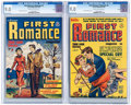Golden Age (1938-1955):Romance, First Romance Magazine #3 and 5 File Copies Group (Harvey, 1949-50)CGC VF/NM 9.0.... (Total: 2 Comic Books)