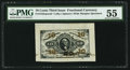 Fractional Currency:Third Issue, Fr. 1253SP 10¢ Third Issue Wide Margin Face Specimen PMG About Uncirculated 55.. ...