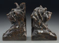 Bronze:European, A Pair of Maximilien Louis Fiot Patinated Bronze Terrier DogBookends, circa 1930. Marks: M. Fiot, Cire perdue, Susse Frs,...(Total: 2 Items)