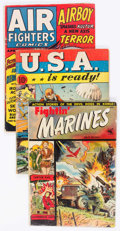 Golden Age (1938-1955):War, Golden Age War Related Comics Group of 12 (Various Publishers,1940s-60s) Condition: Average GD.... (Total: 12 Comic Books)