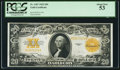 Large Size:Gold Certificates, Fr. 1187 $20 1922 Gold Certificate PCGS About New 53.. ...