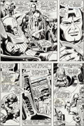 Original Comic Art:Panel Pages, Gene Colan and Joe Sinnott Captain America #117 Story Page14 Red Skull and the Cosmic Cube Original Art (Marvel, ...