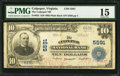 National Bank Notes:Virginia, Culpeper, VA - $10 1902 Plain Back Fr. 633 The Culpepper NB Ch. #5591. ...