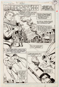 """Curt Swan and Murphy Anderson Action Comics #600 """"A Friend In Need"""" Story Page 1 Original Art (DC, 1988)"""