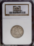 Seated Quarters: , 1875 25C AU58 NGC. PCGS Population (19/169). NGC Census: (24/186).Mintage: 4,293,500. Numismedia Wsl. Price: $165. (#5498)...