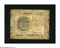 Colonial Notes:Continental Congress Issues, Continental Currency February 17, 1776 $7 Extremely Fine. A lateraland vertical fold are found on this note....