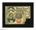 Fractional Currency:Fifth Issue, Fr. 1266 10c Fifth Issue Fine, corner clip. Fr. 1309 25c Fifth Issue Fine. Fr. 1381 50c Fifth Issue Fine.. ... (Total: 3 notes)