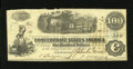 Confederate Notes:1862 Issues, T40 $100 1862. This $100 has a couple of pinholes and several smalltears along the top edge. Fine....
