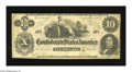 "Confederate Notes:1862 Issues, T46 $10 1862. An engraving error is found on this popular variety,with the ""s"" after ""Month"" missing. Pencilled Criswell nu..."