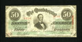 Confederate Notes:1863 Issues, T57 $50 1863. This is a handsome note for the grade that was ableto avoid edge tears and it acquired only one pinhole. Fi...