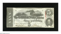 Confederate Notes:1863 Issues, T60 $5 1863. Light handling is found on this Five that was issuedin February 1864, the last month for this design to be cur...