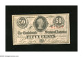Confederate Notes:1863 Issues, T63 50 Cents 1863. Margins are outside the frame line on all foursides of this 1st Series note. Choice Crisp Uncirculated...