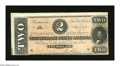 Confederate Notes:1864 Issues, T70 $2 1864. A light center fold claims this Deuce that has two gargantuan margins. An endorsement in purple is also found o...