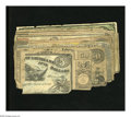 Confederate Notes:Group Lots, Confederate and Obsoletes including T66 modern reproduction VG,repair; T67 Fine; T68 VG; T68 Good, repairs;... (Total: 10 notes)