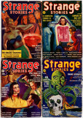 Pulps:Horror, Strange Stories Group of 4 (Better Publications, 1939).... (Total:4 Items)
