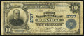 National Bank Notes:Virginia, Roanoke, VA - $10 1902 Plain Back Fr. 624 The First NB Ch. # 2737....